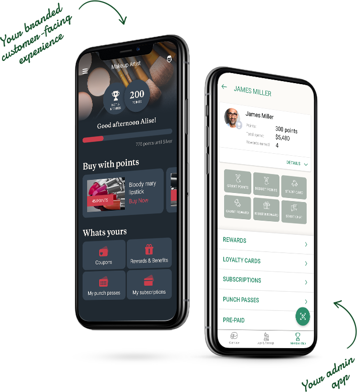 Mobile Admin panel view of Glue Loyaltyapp